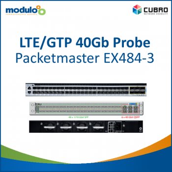 LTE/GTP 40Gb Probe: Cubro Packetmaster EX484-3