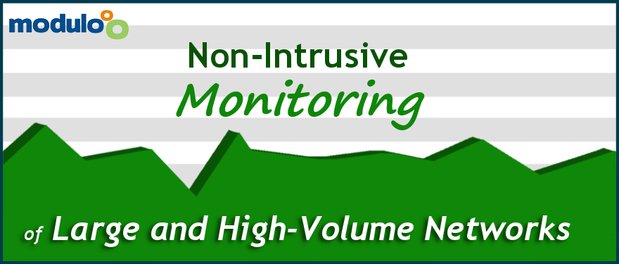 Non-intrusive monitoring of large and high volume networks